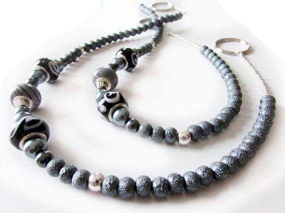 Gray Curtain Tiebacks Grayish Silver Tie by EarthlieTreasures, $25.00