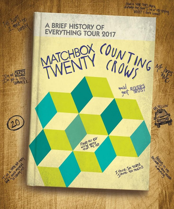 Happy to share with you guys that @matchboxtwenty is back this summer for A Brief History of Everything Tour 2017 w @CountingCrows!! #ABriefHistoryTour #Matchbox2017