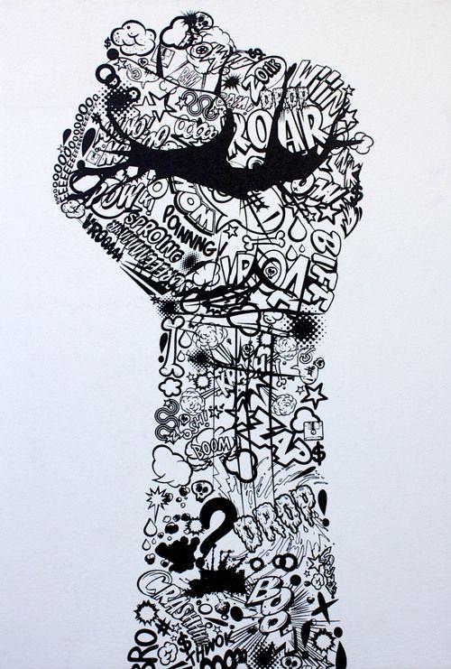 doodle fist