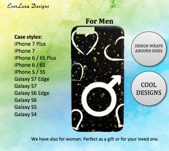 Man Phone case iPhone 7 6 and 5 Samsung S7 S6 S5 by EverLunaStore