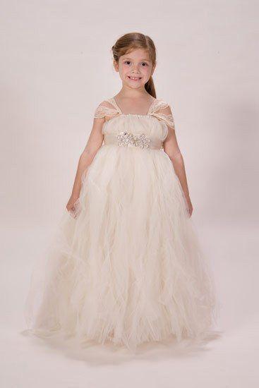 Princess Ivory Tulle Flower Girl