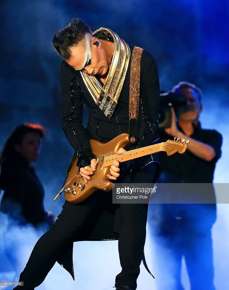 Musician Luke Steele of Empire of the Sun performs onstage during Rock in Rio USA at the MGM Resorts Festival Grounds on May 2015 in Las Vegas, Nevada.