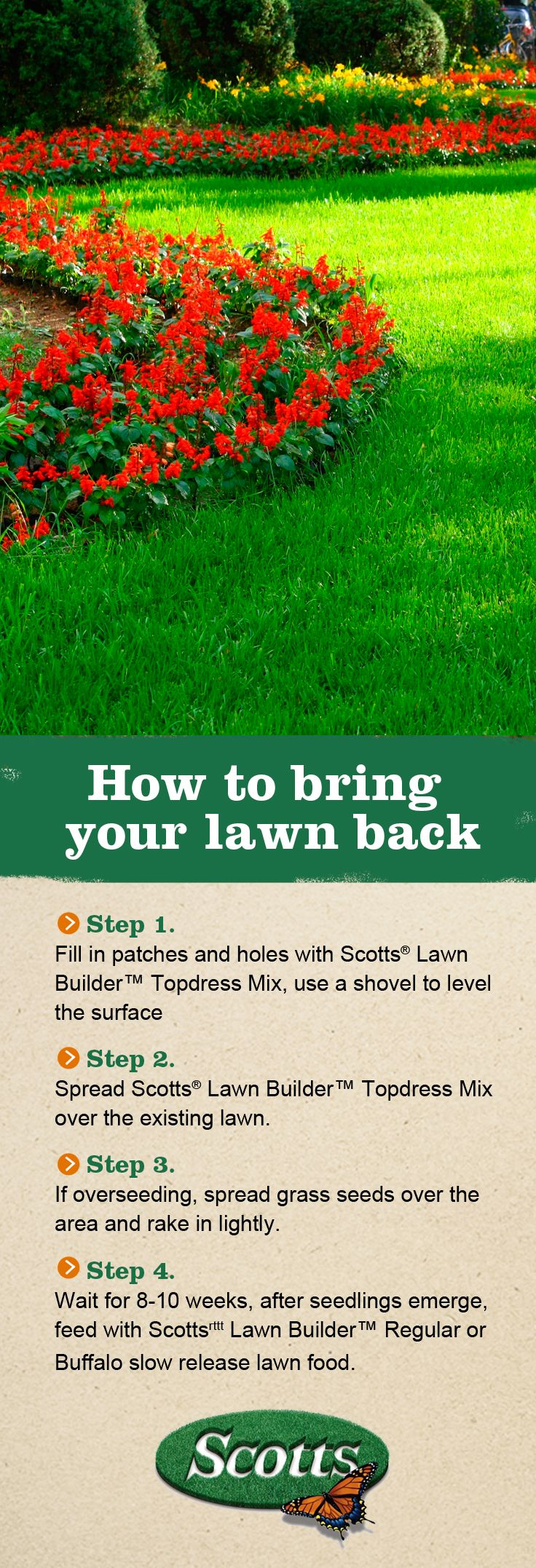 Rejuvenate your #lawn this #autumn with these handy hints from Scotts!
