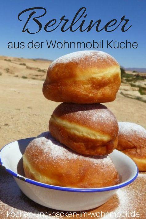 Berliner Pfannkuchen Krapfen ... sooo lecker, locker aus der Wohnmobil Küche! Passt zu Silvester, Karneval und zwischendurch...