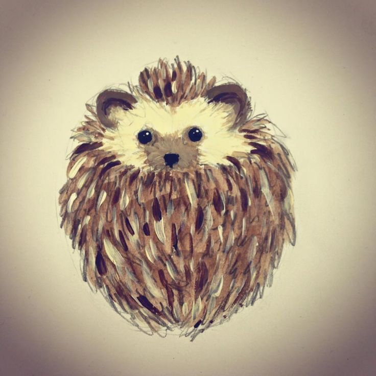 Concept drawing: Hedgehog ball for croquet set