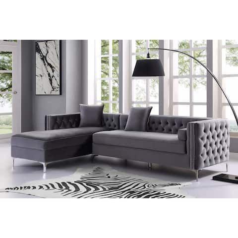 Swell Chic Home Monet Velvet Modern Contemporary Button Tufted Creativecarmelina Interior Chair Design Creativecarmelinacom