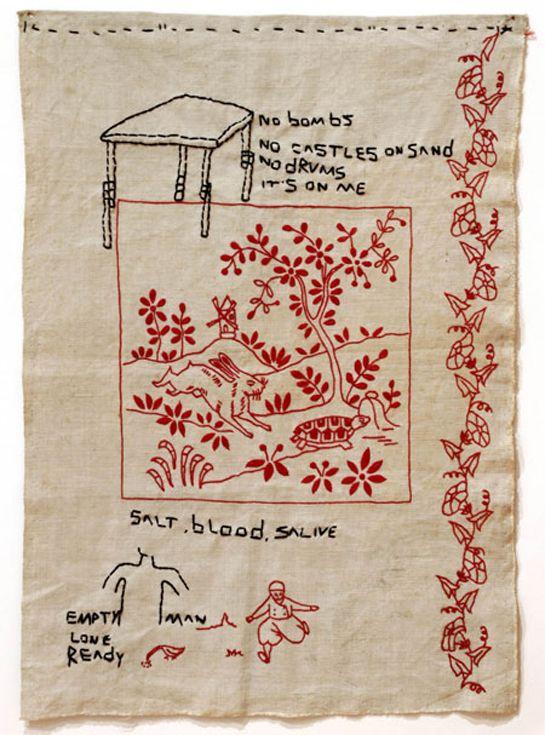 José Leonilson: Embroidery Needlework Thread, Art Craft Handmade, Fabric Needle Thread, Embroidery Needlepnt, So Embroidery, Artist Leonilson