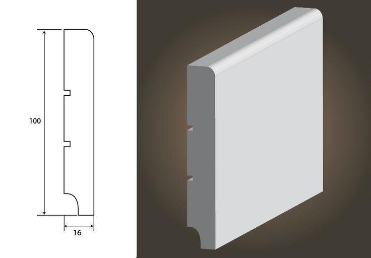 Standard 100 R5 - listwa przypodłogowa MDF 100/16mm biała RAL9003 http://www.tokir.pl/index.php?p3503,standard-100-r5-listwa-przypodlogowa-mdf-100-16mm-biala-ral9003