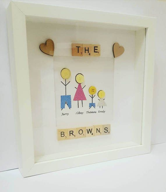28 best Button Family Frame Ideas images on Pinterest | Button ...