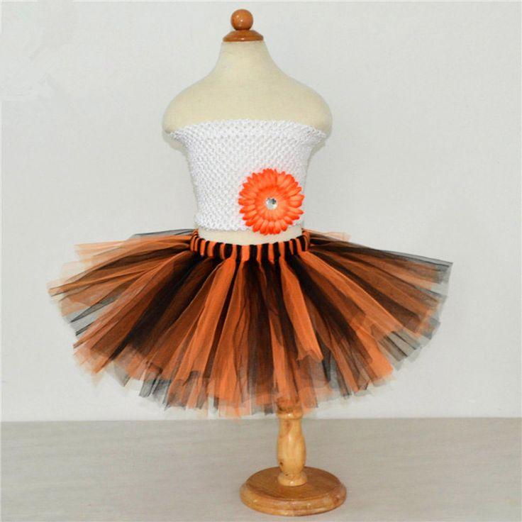 >> Click to Buy << Halloween Girls Skirts Black+Orange Kids Tutu Skirt Girl Fluffy Pettiskirts Children Birthday Party Dance Ballet Tulle Skirt  #Affiliate