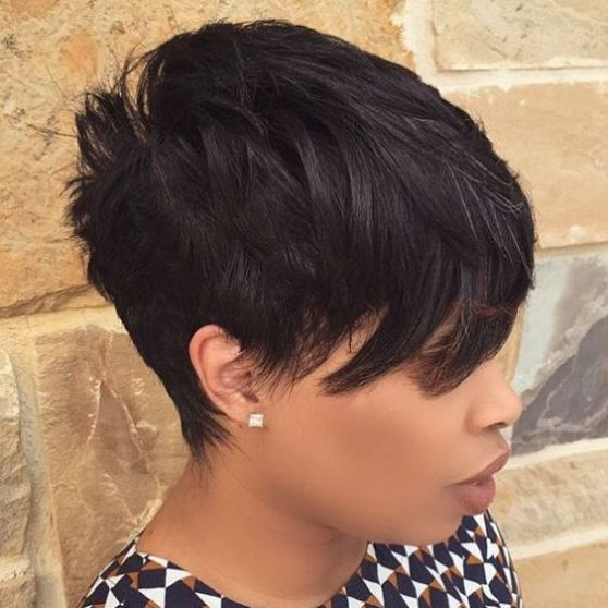 how to style a pixie cut black hair 17 best ideas about choppy side bangs on bangs 9655