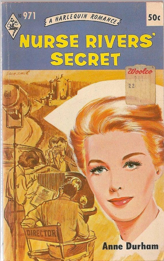 Harlequin Romance Book Cover ~ Vintage book nurse rivers secret a harlequin romance
