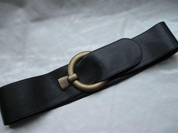 Wide Black belt Women's belt Waist/hip wrap Belt | leatheret tie belt