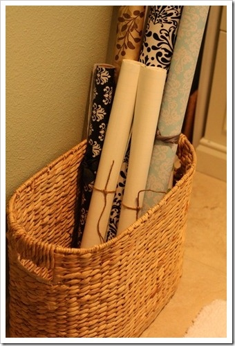 Wrapping Paper Basket. My Dream Is To Make Gift Wrapping A Relaxing  Experience. Somehow