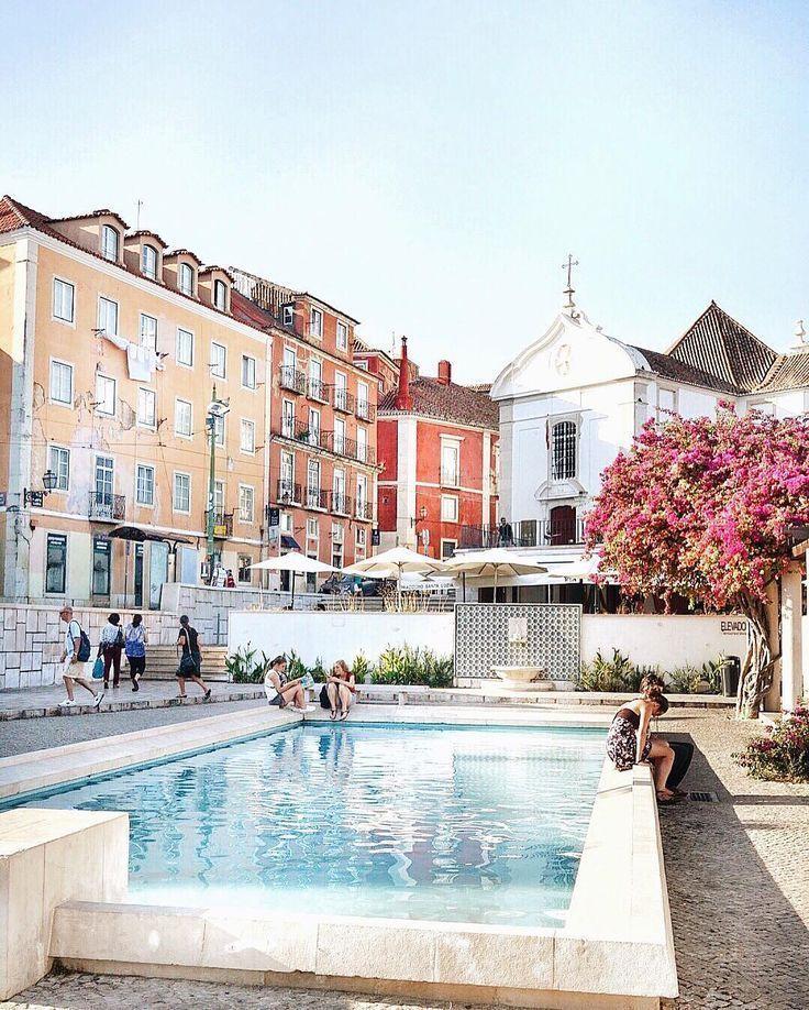 Lisbon Portugal Must Do Travel Tips: Miradouro De Santa Luzia, Lisbon, Portugal