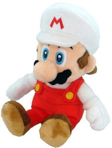 "Super Mario Plush - 8"" Fire Mario Soft Stuffed Plush Toy Japanese Import"