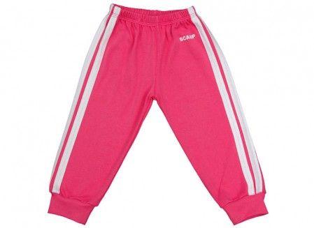 Pantalonaşi cu elastic în talie roz fucsia-alb 100% bumbac | Cod produs: NIG026