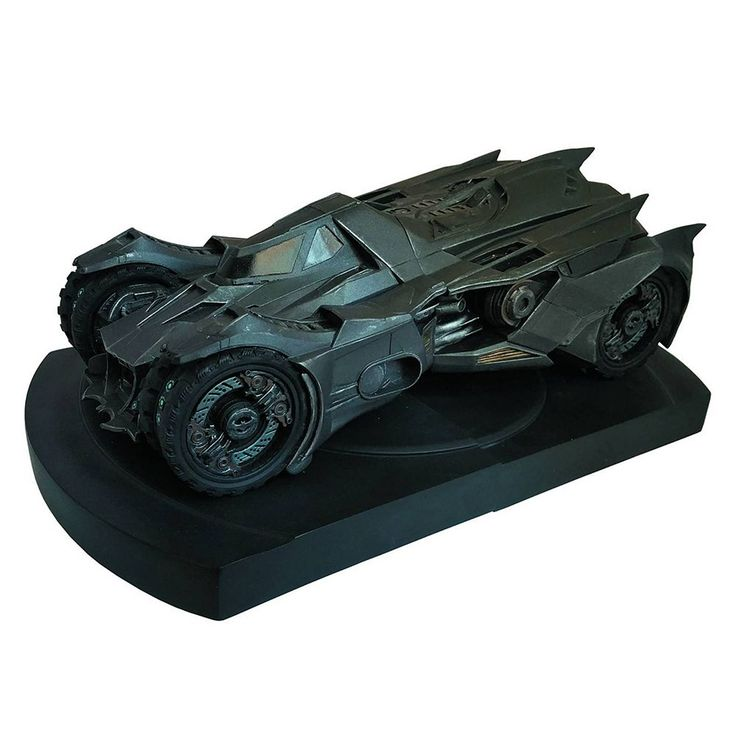 DC Comics Batman Arkham Knight Batmobile Statue Bookends by Icon Heroes, Multicolor
