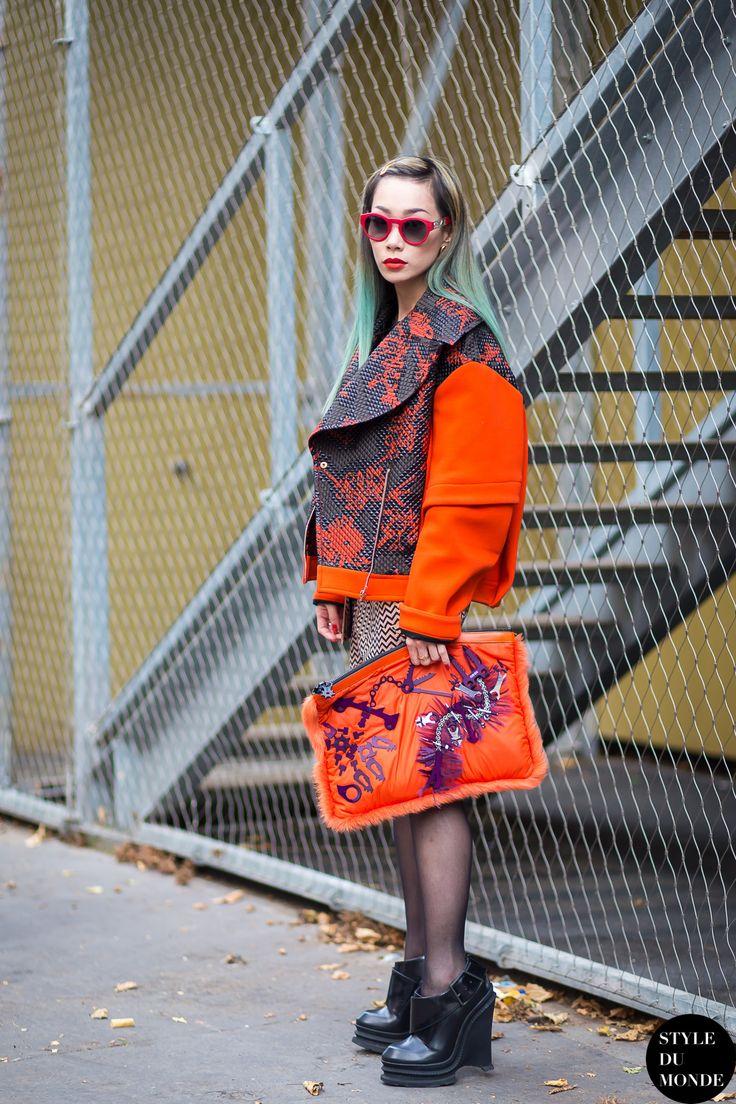 Paris FW SS15 Street Style: Mademoiselle Yulia - STYLE DU MONDE | Street Style Street Fashion Photos