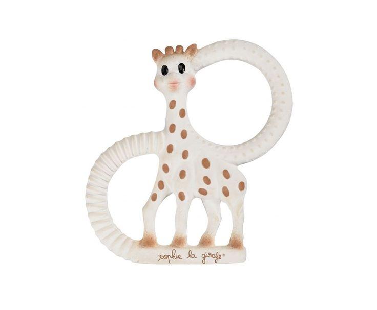 Zo cute en fijn wanneer de eerste tanden van je baby doorkomen, deze bijtring Sophie de Giraf So'Pure zacht.