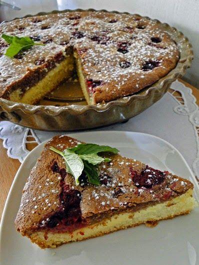 Dvoubarevný koláč s pudinkem