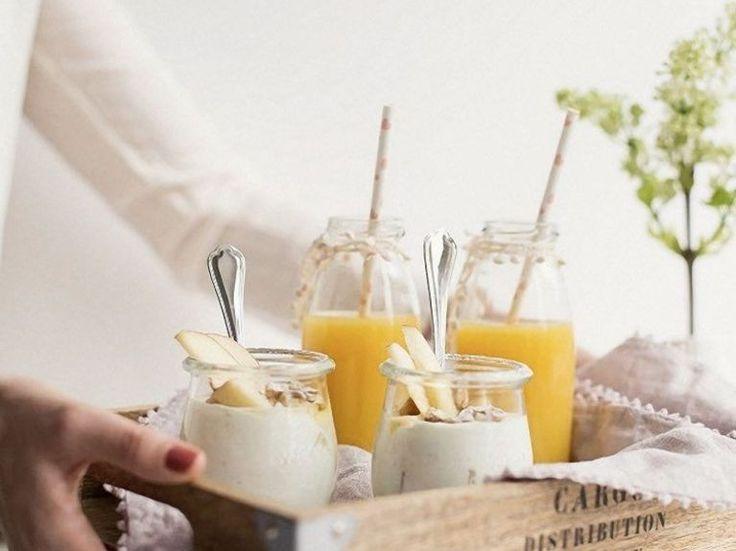 DIY-Anleitung: Frühstück im Bett: Joghurt mit Äpfeln und Nüssen zubereiten via DaWanda.com