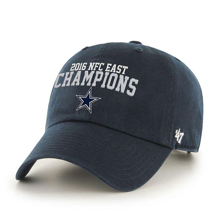 Adult '47 Brand Dallas Cowboys Division Champions Cap, Blue (Navy)