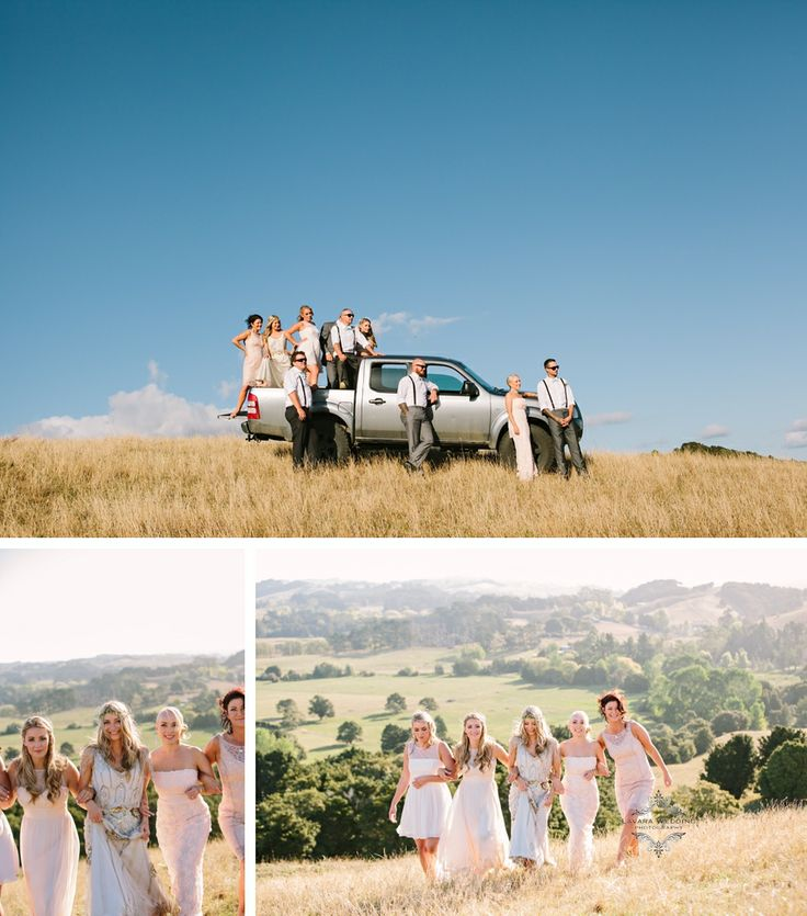wedding party photo's, rustic , jenny packham  eden