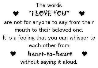 The Words I Love You
