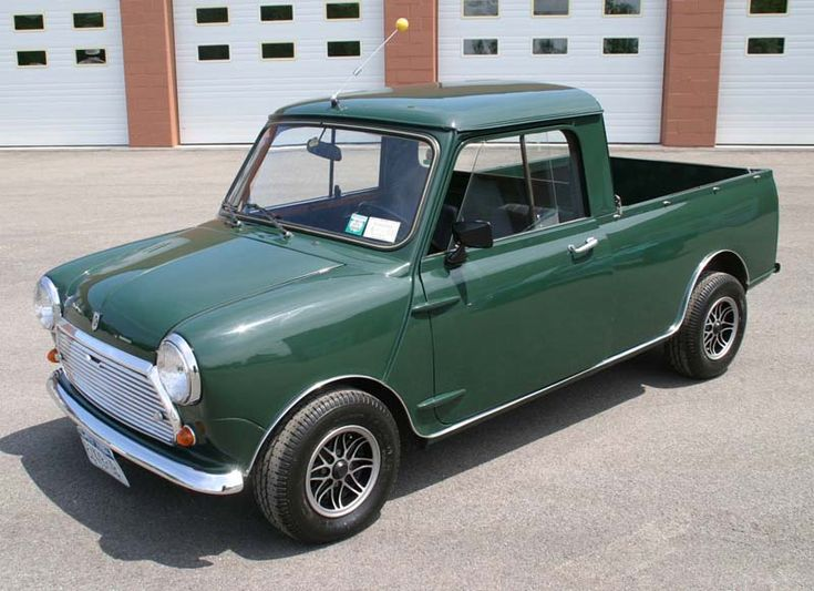 Looking at possible small pick up trucks. Came across this one. Made by Mini and possible the coolest pick-up ever.