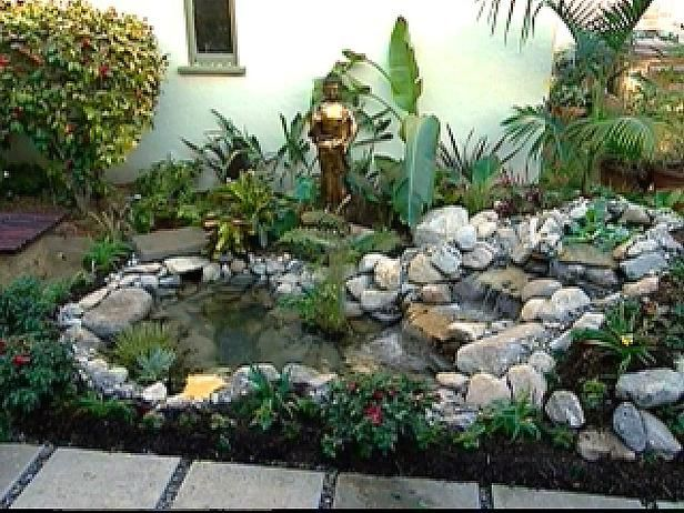 Koi pond garden ideas pinterest koi pond and gardens for Garden table fish pond
