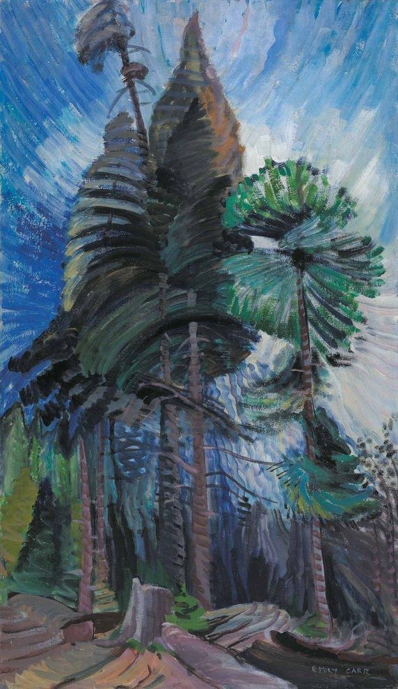 Wind in the Treetops, circa 1936 - 1939. Emily Carr
