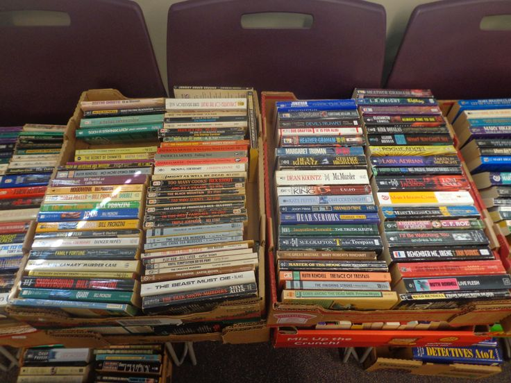 Huge Lot of Mystery/Thriller Paperbacks at Willington Public Library's Annual Book Sale, Willington, CT 9-23-2017