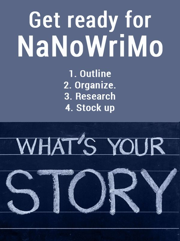 National Novel Writing Month, or NaNoWriMo, is a little over two weeks away. But if you plan to take part in it this year, you shouldn't wait until November 1st to think about your new manuscript. Instead, use the rest of October for planning and outlining. Then, when NaNoWriMo begins, you'll be ready to jump into your story. How I'm …