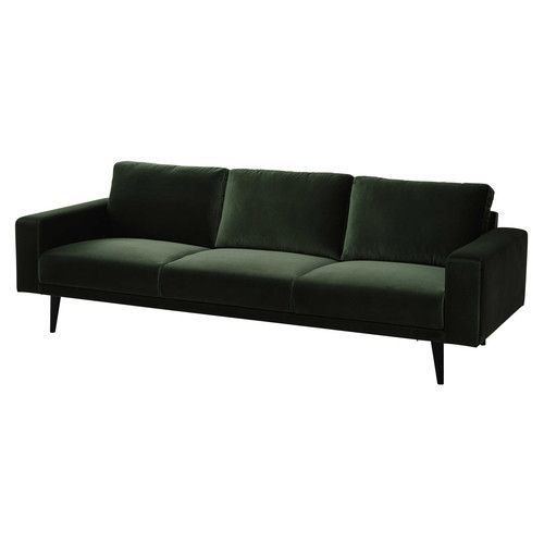 1000 id es sur le th me sofa en velours sur pinterest for Canape velours vert