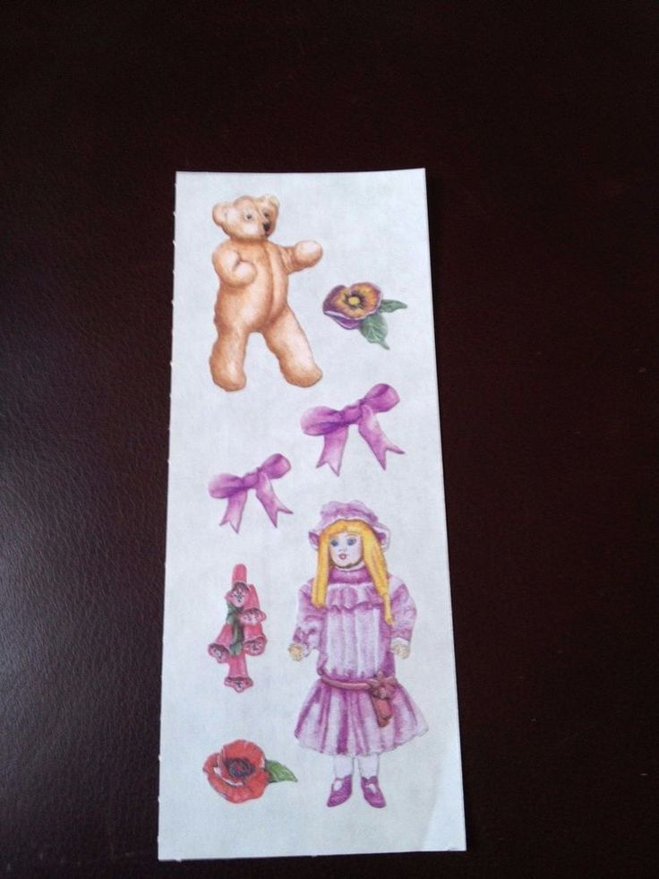 CREATIVE MEMORIES STICKERS: HERITAGE VINTAGE DOLL BEAR BOWS #CreativeMemories