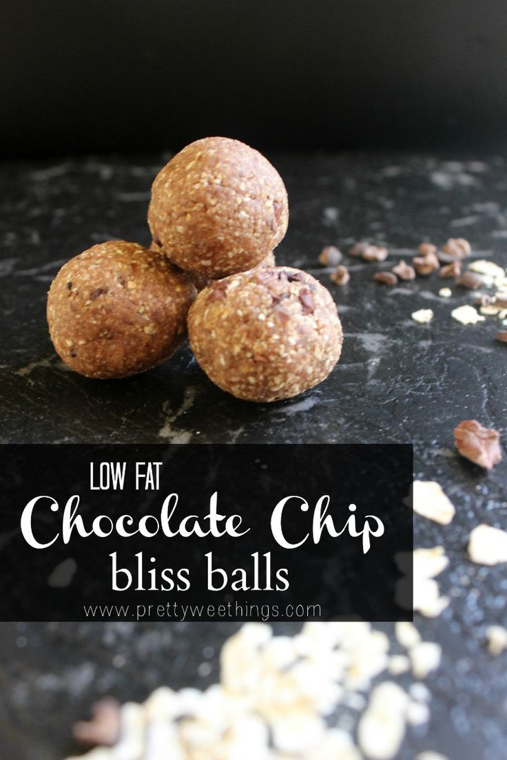 Low fat chocolate chip bliss balls 1