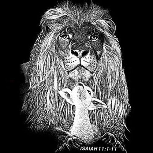 Lion And Lamb Black And White Lion and the lamb - isaiah