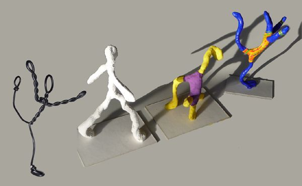 tuto bonhomme en fil de fer bricolage pinterest sculpture art and atelier