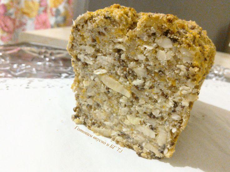 Кокосовый хлеб с семенами и орехами.Без глютена,казеина и яиц