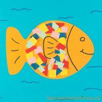 Vis in het water knutselen van papier