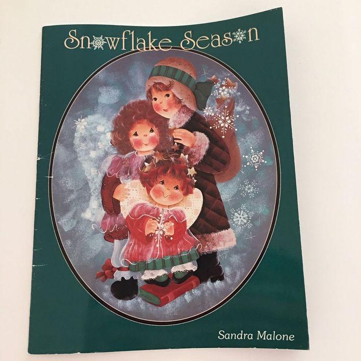 Snowflake Season Sandra Malone Christmas Tole Decorative Painting OOP 1995 #SandraMalone #DecorativePainting