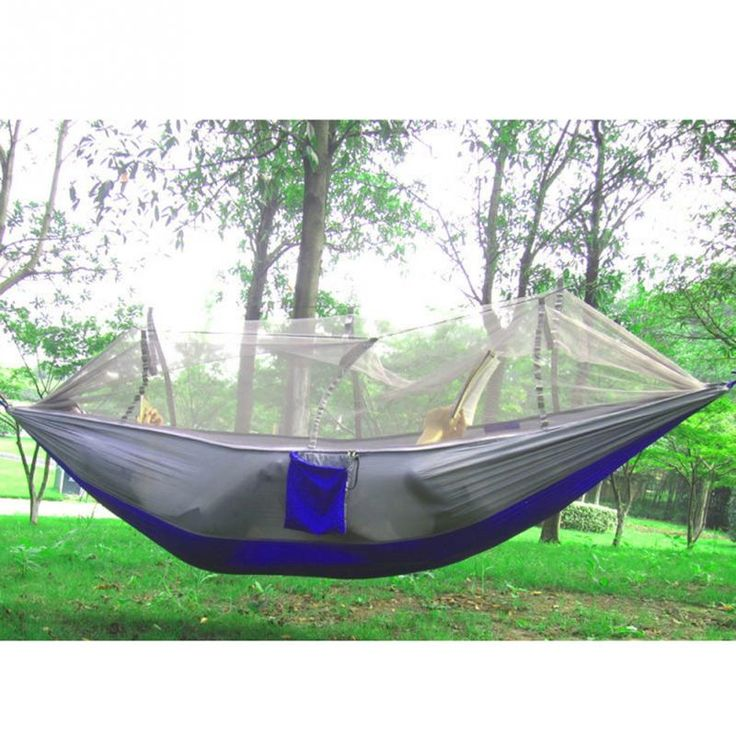 Camping Hammock Mosquito Net Hammock Bed Widened Parachute Fabric Ultralight  Comfort for Hiking Travel Outdoors and Backpacking