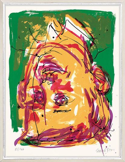 "Georg Baselitz, ""Portrait als Pionier"", 1997 http://www.kunsthaus-artes.de/de/780758.R1/Bild-Portrait-als-Pionier-1997/780758.R1.html#q=baselitz&start=9"