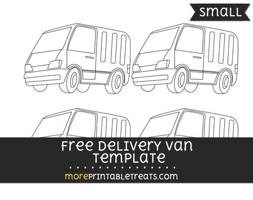 free delivery van template small shapes and templates printables