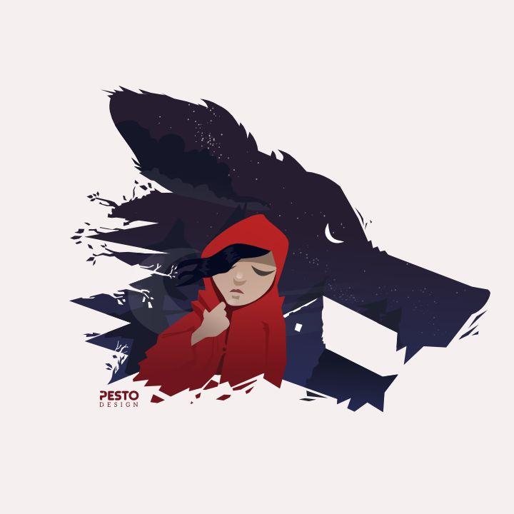 Little Red Ridinghood by: Pesto design https://www.facebook.com/pestodesign?fref=ts
