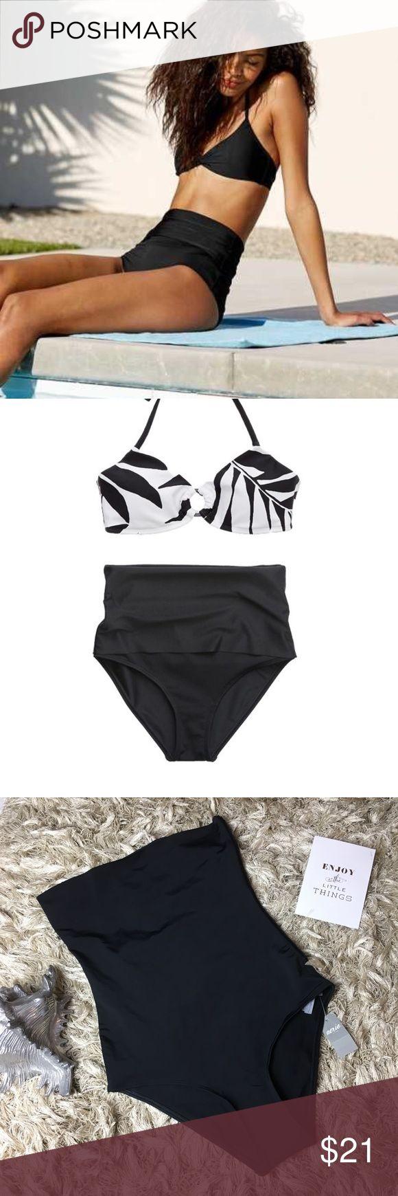 Crazy foldover waist bikini bottomstures