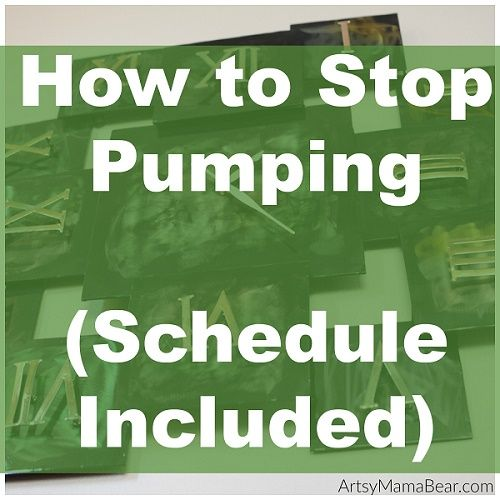 how to stop pumping