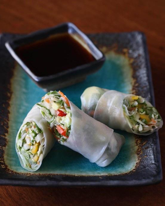 Vegan Vietnamese Summer Rolls by Ellen Degeneris personal chef.