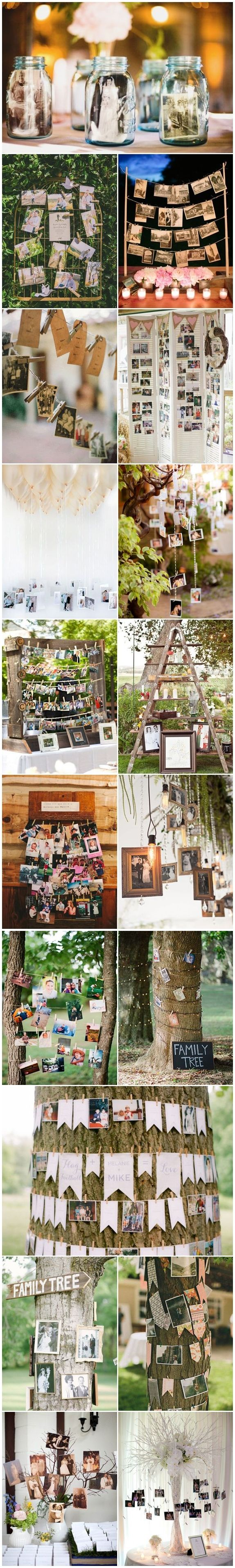 Amazing Ideas to Display Wedding Photos #rusticweddings #weddings #weddingideas #weddinginspiration